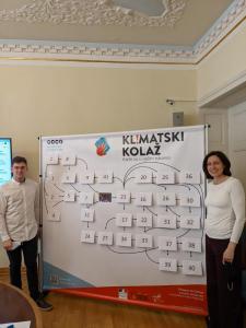 Dan Polimac i Ana Sladoljev predstavljali su Klasičnu u igri Klimatskog kolaža u Saboru.